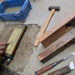 桐タンス修理、道具の手入れ