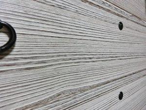 桐タンス修理、時代仕上げ(時代白)の木目