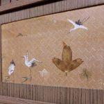 三重県Sさま修理後の桐箪笥、引戸の絵